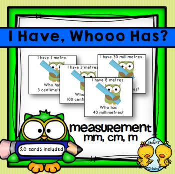 I Have, Whooo Has? Measurement Game FREEBIE