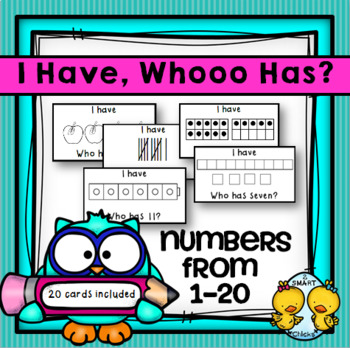 I Have, Whooo Has? Numbers From 1-20 Game