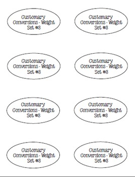 I Have, Whoooo Has? Customary Conversions for Volume, Length and Weight