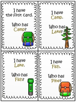 I Have, You Have Camping Words
