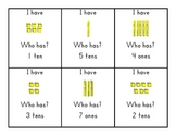 I Have ___.  Who Has?  Tens and Ones Game
