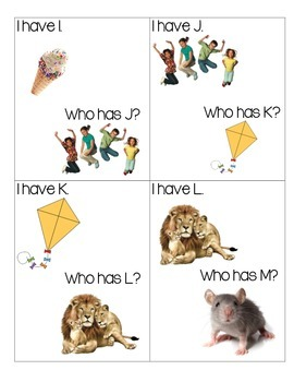 I Have _____ Who has_____? ABC Game!