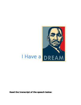 I Have a Dream Activities