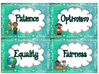 I Have a Dream: Character Traits Board Game and Posters