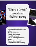 I Have a Dream Found and Blackout Poetry eLearning