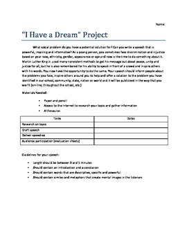 """I Have a Dream""-Inspired Speech Project"