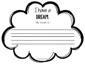 I Have a Dream Martin Luther King, Jr. Writing FREEBIE