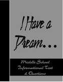 Free- I Have a Dream- Middle School Informational Text