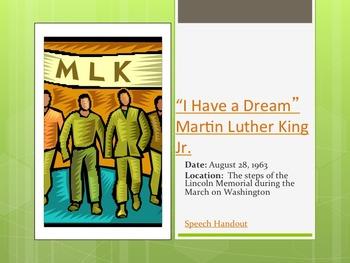"""I Have a Dream"" Martin Luther King Jr. Mini Unit"