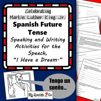 MARTIN LUTHER KING JR.:  Spanish Activities for Intermediate or Advanced Level