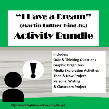 """I Have a Dream"" Speech Activity Bundle (Martin Luther King, Jr.) MLK- PDF"