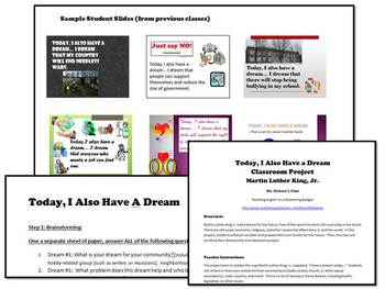 """""""I Have a Dream"""" Speech Classroom Project (Martin Luther King, Jr) MLK"""