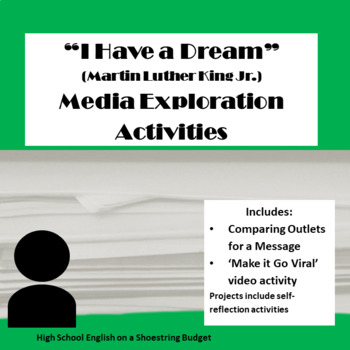 """I Have a Dream"" Speech Media Exploration Activities (Martin Luther King Jr) MLK"