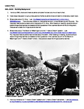 """""""I Have a Dream"""" Speech by Martin Luther King Jr. - Common Core Analysis"""