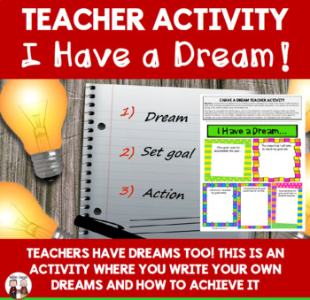 I Have a Dream Teacher Activity FREE
