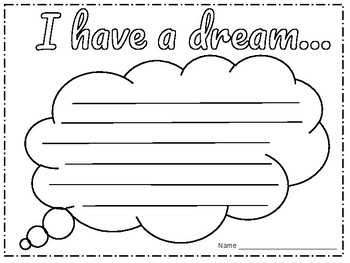 I Have a Dream Thought Bubble