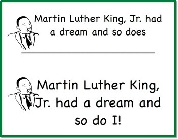 I Have a Dream Too Martin Luther King One and Done Project