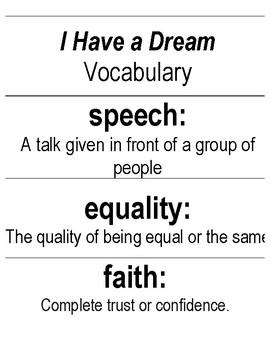 I Have a Dream Vocabulary Bundle