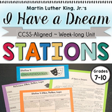 Martin Luther King Jr.'s I Have a Dream: Week-long Unit with Station Activities