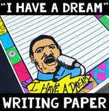 "I Have a Dream Writing Paper: ""Pattern Picture"" for Martin Luther King Day"