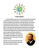 """I Have a Dream"" Writing Piece"