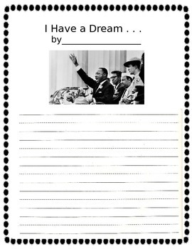 I Have a Dream Writing Worksheet