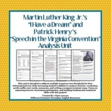 """I Have a Dream"" and ""Speech in the Virginia Convention"" Analysis Unit"