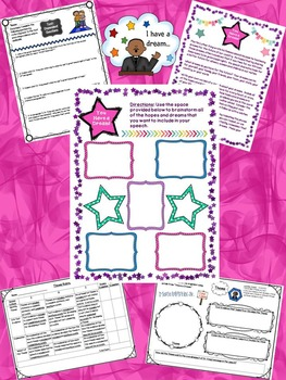 """""""I Have a Dream"""" by Dr. Martin Luther King CCSS Literary Resources Unit"""