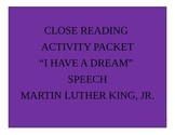 I Have a Dream by Martin Luther King, Jr. Speech Analysis Aligned to Common Core