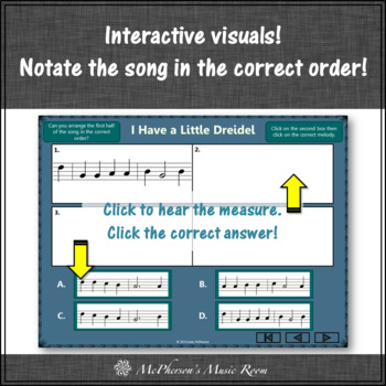 Recorder Song ~ I Have a Little Dreidel Interactive Visuals {Notes GABCD}