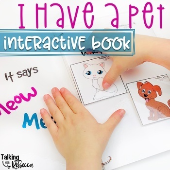 Animal Pets Associations Interactive Book for Preschool