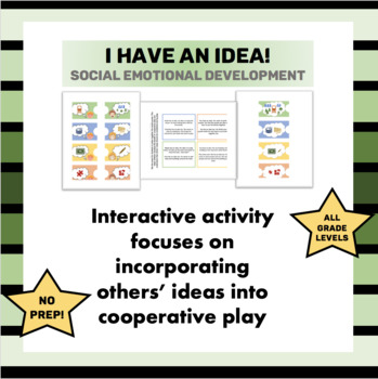 I Have an Idea! Teach Cooperative Play Scenarios