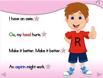 I Have an Owie - Animated Step-by-Step Poem - Regular