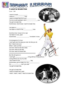 I Have to Break Free Song Worksheet