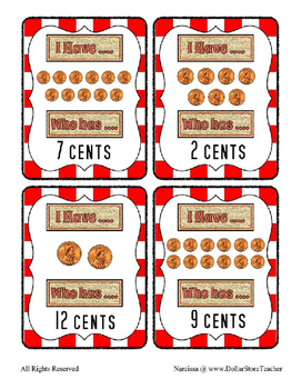 I Have .... who Has Penny counting to 12 cents with a Pizza theme ~ Free