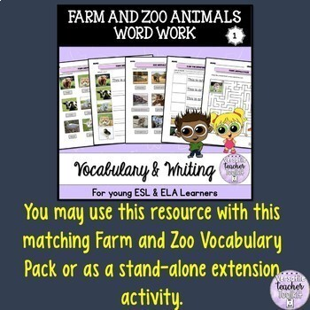 I Have, Who Has? Farm and Zoo Animals Vocabulary Game (Realistic images)