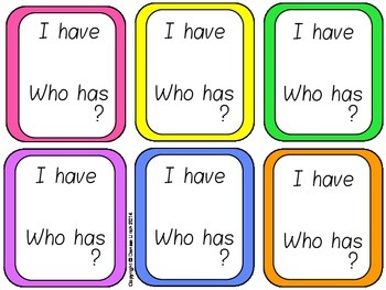 I Have Who Has? - Sight Words Set 2 (36 words)