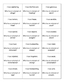 """""""I Have...Who Has?"""" Antonyms Vocabulary Printable Cards"""