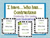 I Have...Who Has? Contractions Game
