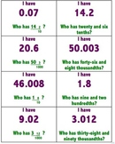 """I Have...Who Has?"": Converting Decimals & Fractions"