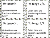 I Have...Who Has? Equivalent Fractions Game (Spanish)