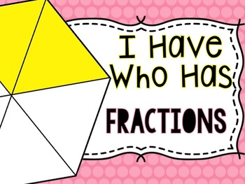 I Have...Who Has FRACTIONS!