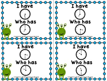 First Grade: I Have, Who Has?