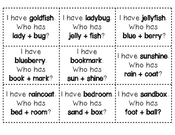 I Have/Who Has-Focus on Compound Words