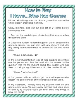 I Have...Who Has?: Fractions Freebie!