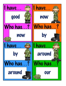 I Have...Who Has...? Game - Basic Sight Words.5