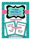 """I Have…Who Has"" Game - Contractions"