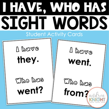 """I Have...Who Has?"" Game {Sight Words}"