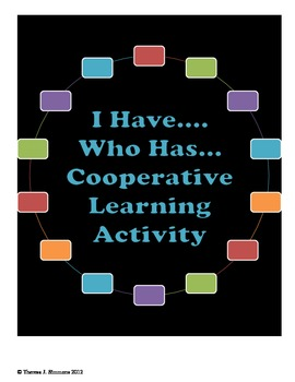 """I Have...Who Has...?"" Geometry Vocabulary Cooperative Learning Activity"