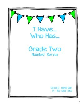 I Have...Who Has (Grade Two Numeration)